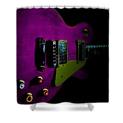 Purple Relic Les Paul II Hover Series Shower Curtain