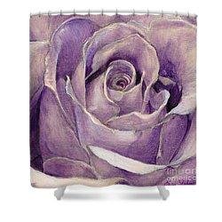 Purple Rose Shower Curtain
