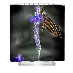 Purple Sage Snack Shower Curtain