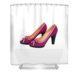 Purple Shoes Shower Curtain