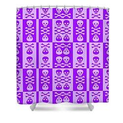 Purple Skull And Crossbones Pattern Shower Curtain