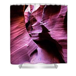 Shower Curtain featuring the photograph Purple Slot Canyon - Tall by Stephen Holst