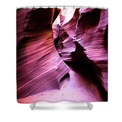 Shower Curtain featuring the photograph Purple Slot Canyon - Wide by Stephen Holst
