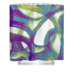Shower Curtain featuring the mixed media Purple Soul by Lucia Sirna