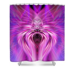 Purple Spider Shower Curtain