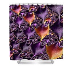 Purple Spirals Shower Curtain