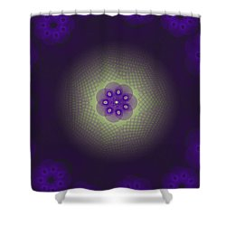 Purple Spirograph Design Shower Curtain