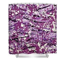 Purple Splatter Shower Curtain by Thomas Blood