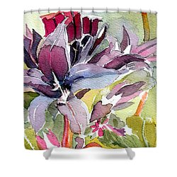 Purple Stem Aster Shower Curtain