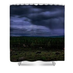 Shower Curtain featuring the photograph Purple Strikes by Cat Connor