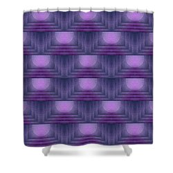 Purple Sun Deco Shower Curtain by Patricia Strand