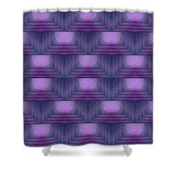 Purple Sun Deco Shower Curtain