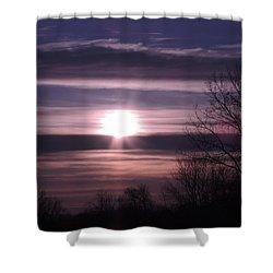 Purple Sunrise Shower Curtain by Teresa Schomig