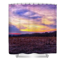 Purple Sunset At Retzer Nature Center Shower Curtain by Jennifer Rondinelli Reilly - Fine Art Photography