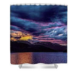 Purple Sunset At Summit Cove Shower Curtain