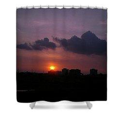Purple Sunset  Shower Curtain