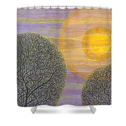 Purple Sunset Shower Curtain by Charles Cater