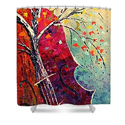 Purple Symphony Shower Curtain