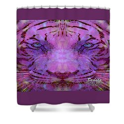 Shower Curtain featuring the photograph Purple Tiger by Barbara Tristan