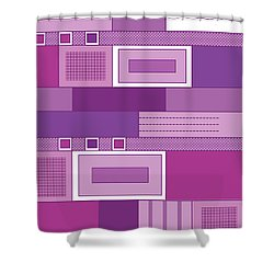 Purple Time Shower Curtain
