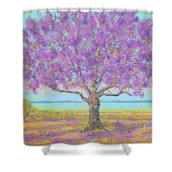 Purple Tree Shower Curtain