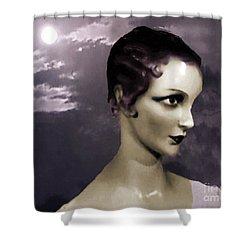 Shower Curtain featuring the digital art Purple Twilight by Lyric Lucas
