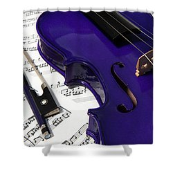 Purple Violin And Music V Shower Curtain