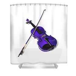 Purple Violin Shower Curtain