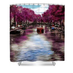 Purple Water Shower Curtain