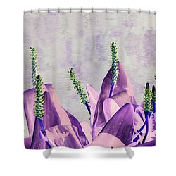 Purple Water Plant Shower Curtain