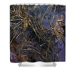 Purple With Texture Shower Curtain
