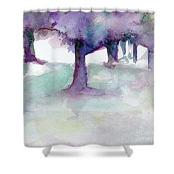 Purplescape II Shower Curtain by Jan Bennicoff