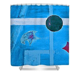 Purposphere Gone Blue Shower Curtain