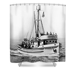 Purse Seiner Western Flyer On Her Sea Trials Washington 1937 Shower Curtain