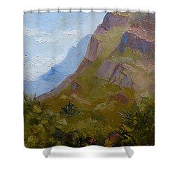 Pusch Ridge I Shower Curtain