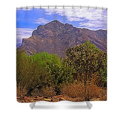 Shower Curtain featuring the photograph Pusch Ridge Morning H10 by Mark Myhaver