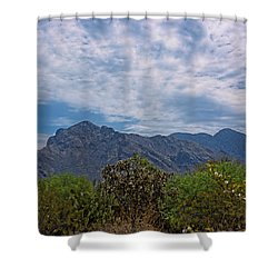 Shower Curtain featuring the photograph Pusch Ridge Morning H26 by Mark Myhaver