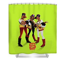 Push It Shower Curtain by Nelson Garcia