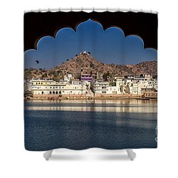 Shower Curtain featuring the photograph Pushkar Lake by Yew Kwang