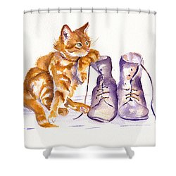 Puss 'n Boots Shower Curtain