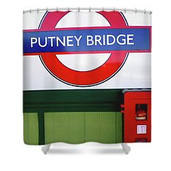 Shower Curtain featuring the photograph Putney Bridge by Rebecca Harman