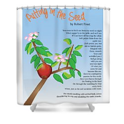 Shower Curtain featuring the digital art Putting In The Seed by Thomasina Durkay