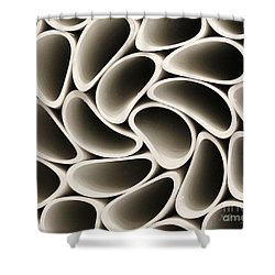 Pvc Pipe Twirl Shower Curtain