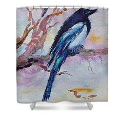 Shower Curtain featuring the painting Pye I by Beverley Harper Tinsley