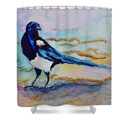 Shower Curtain featuring the painting Pye II by Beverley Harper Tinsley