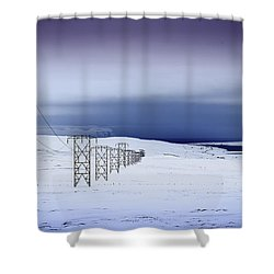 Pylons, Iceland Shower Curtain