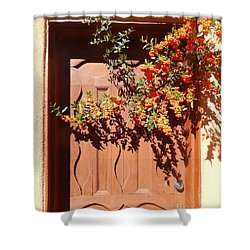 Shower Curtain featuring the digital art Pyracantha by Ann Johndro-Collins
