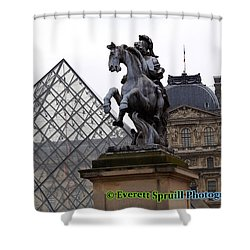 Pyramid At The Louvre - Paris France Shower Curtain