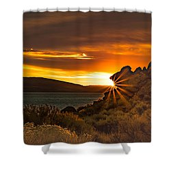 Pyramid Lake At Sunrise Shower Curtain