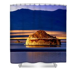 Shower Curtain featuring the photograph Pyramid Lake Nevada by Irina Hays